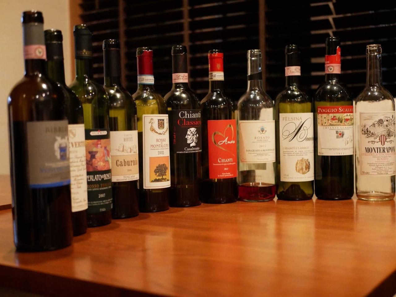 イタリアワインを北から南まで幅広く取り揃えております。