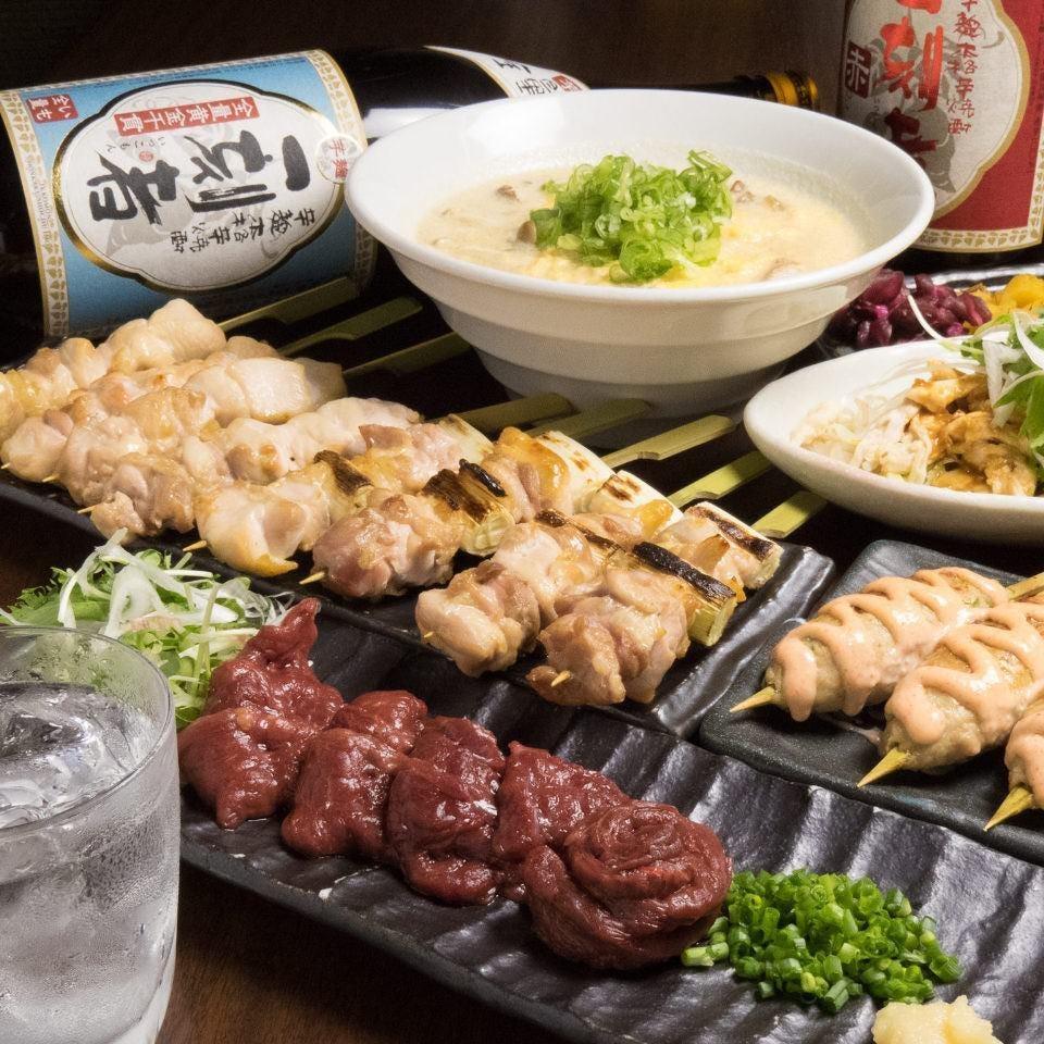 ◆馬刺しと焼鳥コース◆3H飲み放付4500円⇒3500円(税込)