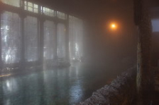 男女各100坪の大浴場