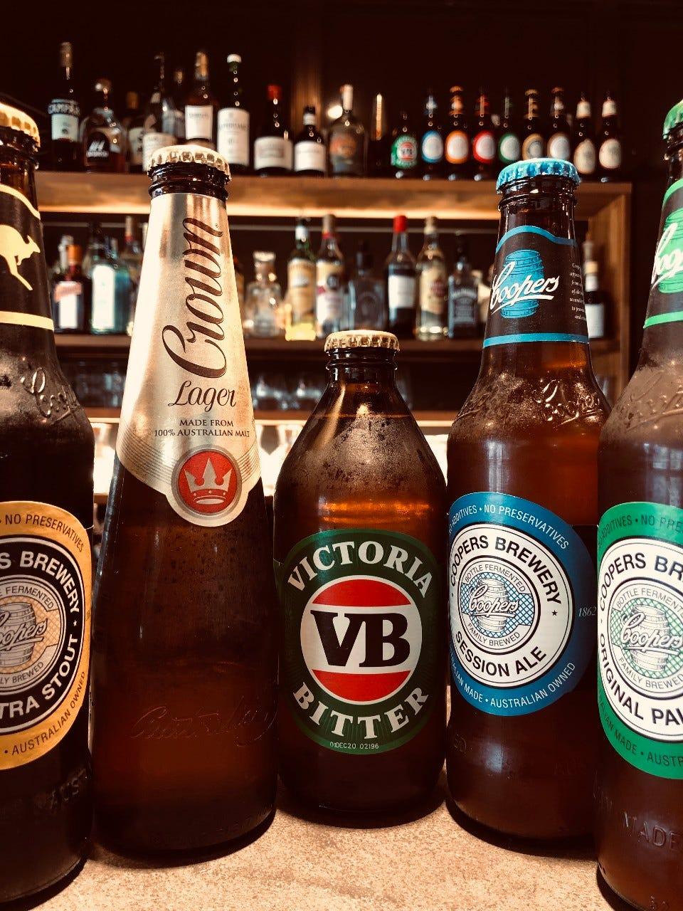 定番のオーストラリアビールも揃えております^^