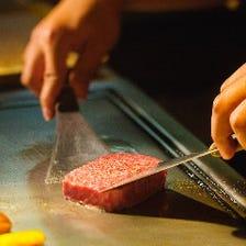◆お客様が選んだお肉を目の前で調理