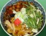 ○冷やし山菜うどん     冷たい