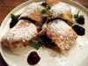 【デザートピッツァ】チョコ、ヘーゼルナッツ、生クリームの包み焼きピッツァ