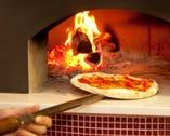 400度で焼き上げる本格薪窯ナポリピッツァ