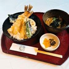海老天丼(小うどん付き)