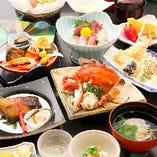 季節の旬魚お造り五種盛など会席料理【ぼたん】13品6,000円!
