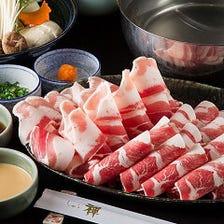 【2h食べ飲み放題】極上肉に満たされる時間を…『国産牛・国産豚しゃぶ食べ放題&飲み放題』