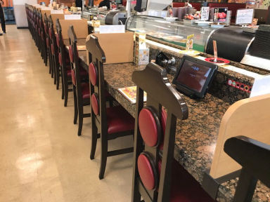 本格グルメ系回転寿司 海都 本店 店内の画像