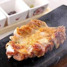 京都産 丹波黒鶏の石焼き