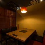 個室も完備。