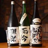 豊富な日本酒を取り揃えておりますので、気軽にお試しください。