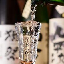 日本酒を新鮮な海鮮料理と共に