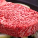 鉄板特選ロースステーキ(黒毛和牛)