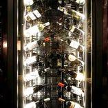 当店自慢のワインセラー