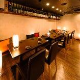 会社宴会や飲み会にぴったりな広々とした個室完備!