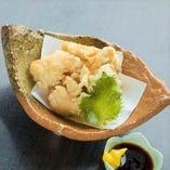 総州古白鶏の天ぷら