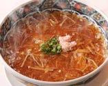 蟹とフカヒレのコラーゲンたっぷり とろみ麺。最高級フカヒレ