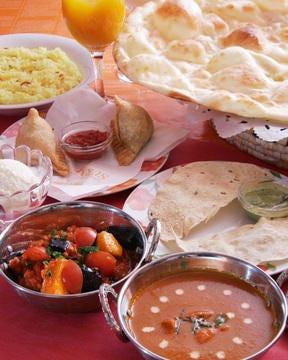 本格スパイスを使ったインド料理