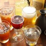 充実の飲み放題メニュー