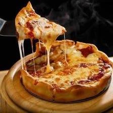 期間限定無制限飲み放題!伸びーーーるチーズが自慢のシカゴピザコース4980円⇒4480円