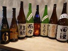 豊富な日本酒の品揃え