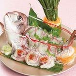 【お祝い料理】がんこ鯛姿造り