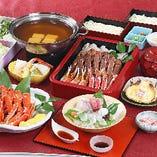 【全9品】かにすきはもちろん、かに酢やかに天ぷらもお愉しみいただける『特選かに三昧コース』