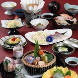 【全10品】旬魚の旨みと和の料理を堪能『季節の魚しゃぶ はな菖蒲コース』
