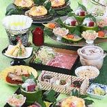 【全9品】豪華な大漁造り&豚しゃぶを味わう『韃靼そば茶豚しゃぶ ひばりコース』