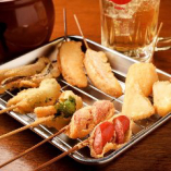 【アツアツ串カツ】 さっくりと軽い食感が特徴♪本場大阪の味!