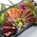 旬の新鮮な鮮魚を藁焼きで楽しめる◎日本酒とのマリアージュも◎
