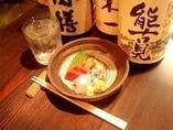 焼酎、日本酒、和食に合うお酒を選んでいます。