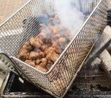 鹿児島『地鶏ももの炭火焼き』ジュウシーな旨味は芋焼酎の甘い香りとピシャット!あいます。