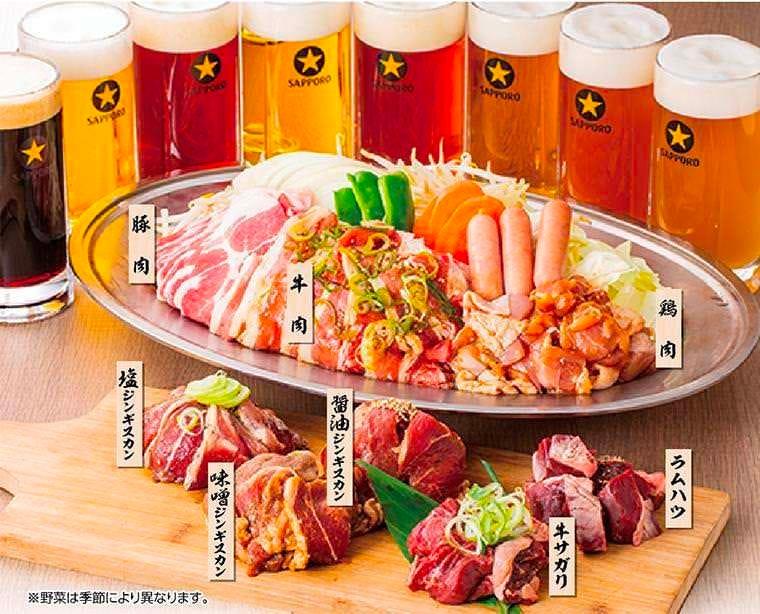 8種のお肉と生ビール食べ飲み放題!! 月~木がお得です!!