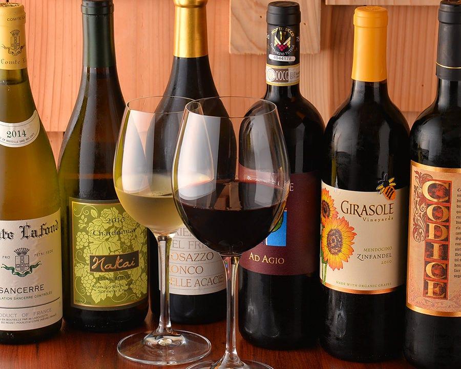 厳選ワインと大人気自家製サングリア