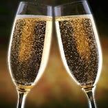 【歓送迎会限定】コース料金+0円でコース飲み放題に『樽生スパークリングワイン』をお付けします!