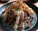 つくね、もも、かわ、レバー、ハツetc全13種類と豊富な串料理!