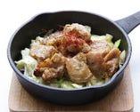 鶏ハラミ鉄板焼き
