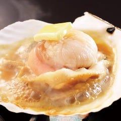 北海道産 活帆立バター醤油焼き