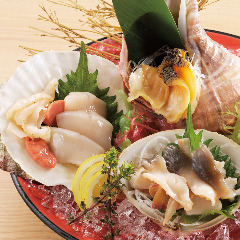北海道産 貝刺3点盛り合わせ