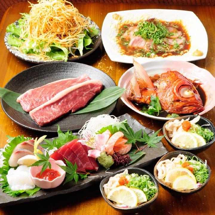 魚介も肉も満喫!3,500円 ~