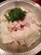 大好評、田々のプリプリもつ鍋、 〆は、ツル!モチ!タピオカ麺