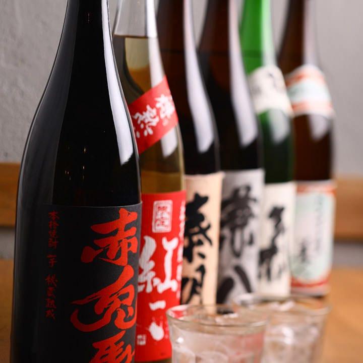 地元の味には地元の酒!やっぱり九州の焼酎がよく合います!