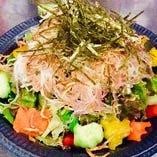 大根とジャコのトーフサラダ
