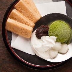 北海道 小豆の利休抹茶アイス最中