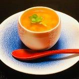 トマトとチーズの茶碗蒸し