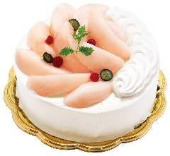 """""""桃""""のホールケーキ"""