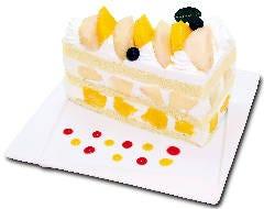 沖縄マンゴーと桃のプレミアムジャンボショートケーキ  『7月限定』