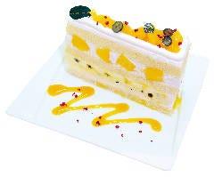 【数量限定】 宮崎マンゴーとパッションフルーツのプレミアムジャンボショートケーキ  『6月限定』