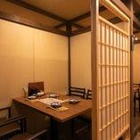 【テーブル個室/3~4名様用&4~6名様用】少人数で過ごすプライベート空間